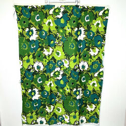"""House 'N Home Fabric amp; Draperies Remnant Piece Bright Green Floral 38"""" x 54"""""""