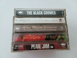 The Black Crowes 3 Cassette Tape Lot W Pearl Jam Guns N Roses 7 Total