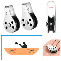 316 Stainless Steel Wire Rope Crane Pulley Block - Boat Lifting Fixed Pulley