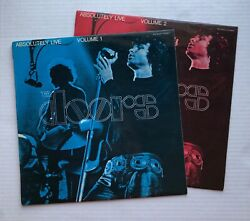 The Doors Absolutely Live Volume 1 And 2 1970 New Zealand 2xlps Gold Labels Minty