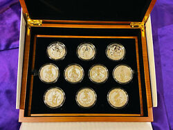 Queen's Beasts 2 Oz Silver 10 Coin Set With 1 Oz Silver Pf Completer Collection