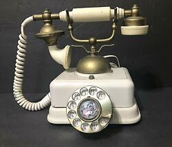 Vtg☎antique Royal Albert Old Country Style Rotary Dial Us Telephone 1969 Japan