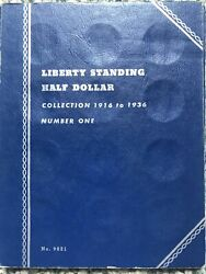 Liberty Standing Half Dollar Collection 1916 To1936 Official Whitman Coin Folder
