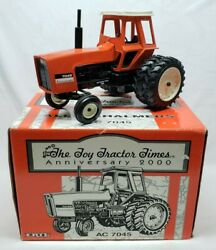 Allis-chalmers 7045 Tractor W Cab + Duals By Ertl 1/16 Toy Tractor Times 2000