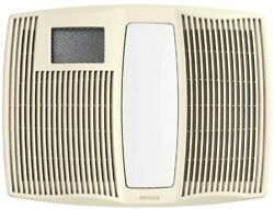 Broan-nutone Qtx110hflt Ceiling Heater, Fan, And Light Combo, 6 Round, White