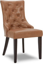 Chita Dining Room Chairs,leather Upholstered Tufted Kitchen Mid-century Modern