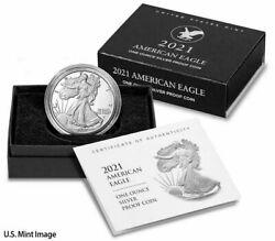 2021 W American 1 Oz Silver Eagle Type 2 Proof Ogp