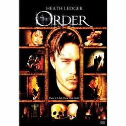 The Order Dvd, 2009, Ws And Fs Versions Heath Ledger, Peter Weller.     D