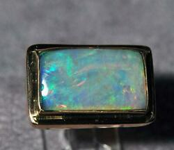 Fire Opal Cabochon 14k Handcrafted Gemstone Ring