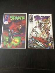 Spawn Comic Books 1 And 9 First Angela Nm 9.8 Condition