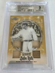 Babe Ruth Leaf Metal Collection Quad Bats Gold Bgs 9 Centering Bgs 9.5 True 1/1