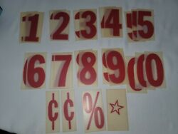 Vintage Outdoor Plastic Sign Letters And Numbers Marquee 4 Menu Message Board