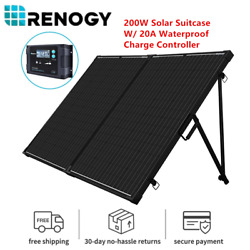 Renogy 200watt 12volt Mono Foldable Solar Suitcase W/ 20a Voyager For Rv Camping
