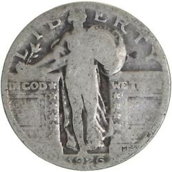 1926 Standing Liberty Quarter 90 Silver About Good Ag