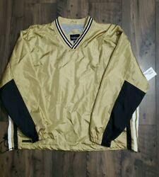 Vintage 1990and039s Holloway Old Stock Jacket Nylon W/linning Menand039s Xl Gold Black Nwt