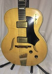 Rare Vintage 1959 Supro Arch Top Hollow Body Electric Guitar By National