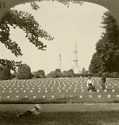 Keystone Stereoview Of Cemetery And Monument, Gettysburg, Pa History Set H141 B 2