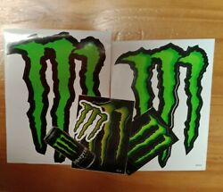 6 Monster Energy Decals Stickers,car,bike,laptop,rc Car,motorcycle,boat