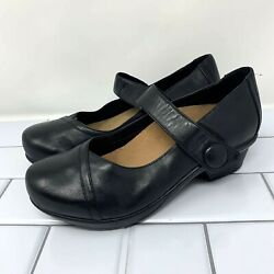 Abeo Cate Leather Black Mary Jane Shoes 8.5