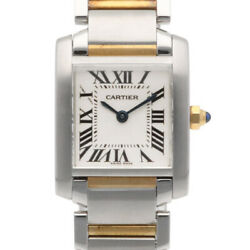 Watches Silver Gold Stainless Steel K18 Yellow Gold Tank Francais Used