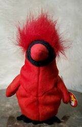 Ty Beanie Babies Mac The Cardinal Plush Toy With Multiple Tag Errors