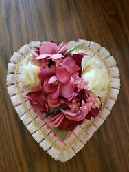 Vintage Valentine Candy Heart Box With Flowers