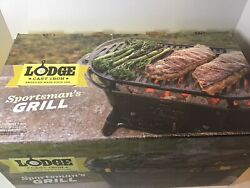 Lodge Sportsman Cast Iron Grill New Open Box. Never Assembled