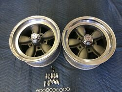 Vintage Pair Of Appliance Daisy Wheels 14x7 Chevy 5 On 4 3/4 Real Nice Restored
