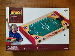 Brio Tabletop Wood Pinball Game 34006 2 Players Hard To Find Excellent Condition