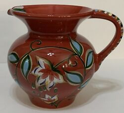 Southern Living At Home Gail Pittman Bountiful Collection Pitcher Red Floral