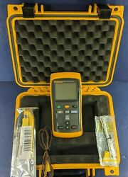 Fluke 52 Ii Thermocouple Thermometer, Excellent, Screen Protector, Hard Case