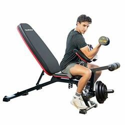 Adjustable Weight Bench Multipurpose Incline Decline Heavy Duty Exercise Bench
