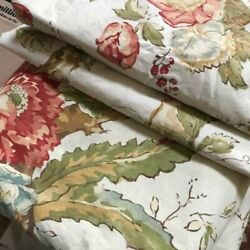 Pottery Barn Katherine Duvet Cover Queen 2 Standard Shams Floral Palampore Rare