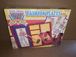 Vintage 1991 Family Matters Steve Urkel Fashion Plates New In Box