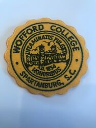 """Wofford College Terriers Vintage Embroidered Iron On Patch 3"""" X 3"""" NICE"""