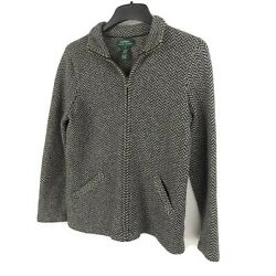Womens Wool Sweater Lauren Zip Up Jacket With Pockets Small