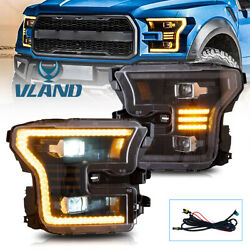 Vland Led Projector Replacement Headlights For Ford F150 2015-2017 2016 Pair