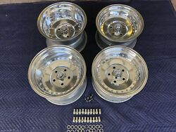 4 Polished 15x8 And 10 Centerline Style Wheels 5on5 Chevy C10 Truck G10 Van