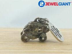 Bonanza Signed Sterling Silver Wagon Charm, 3.8 G, Needs Deep Clean Ag345