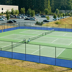 Blue 8ft Up To 300ft Privacy Screen Fence Green Commercial Windscreen Mesh Cover