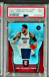 2017-18 Panini Totally Certified Karl - Anthony Towns Psa 9 Materials /199