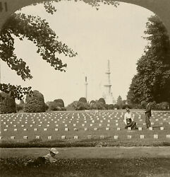 Keystone Stereoview Of Cemetery And Monument, Gettysburg, Pa History Set H141 B 1