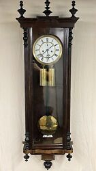Double Weight Antique Vienna Wall Clock