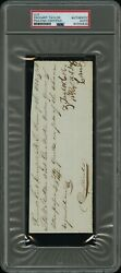 Zachary Taylor President Signed Autograph Psa/dna Authentic
