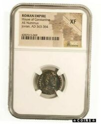 Silver Gold Antique Coins Roman Ae Of Jovian 363-364 Ngc Xf 151