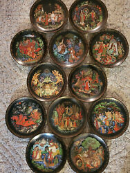 Vintage Russian Fairy Tales Plate Collection 12