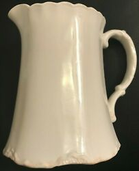 """Vintage White J. And G. Meakin Sol 5-1/2"""" Creamer Pitcher Rare England 391613"""