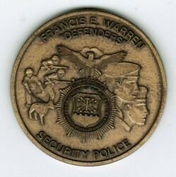 Usaf F.e. Warren Afb Defenders Security Police Challenge Coin Space Force Rare
