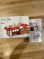 New Dept. 56 Chick-fil-a Lot Of 3 Building, Billboard, Eat Mor Chikin Cows Rare