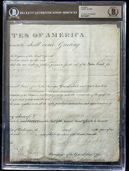 Andrew Jackson President Signed Autograph Document Beckett Bas Authentic
